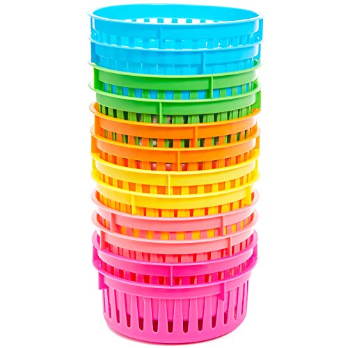 Bright Creations 12-Pack Classroom Pen and Pencil Basket Trays, Assorted Colors, 6.1 x 2.3 Inches