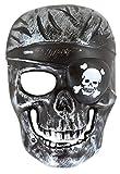 Rappa Karneval Maske Totenkopf Skelett Pirat Totenschädel für Kinder ab 3 Jahren