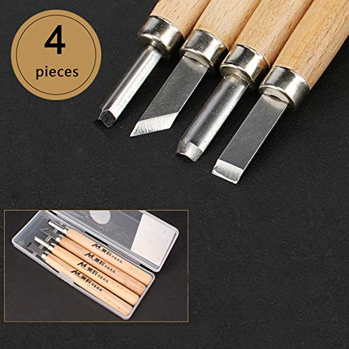 foxom 12/piezas profesional para tallar madera herramienta Carpinter/ía Juego De Cinceles Con Caja de almacenamiento Cincel establece