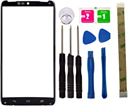 Replacement Screen Repair Front Outer Top Glass Lens Cover for Motorola Droid Turbo XT1254 XT1225 Mobile Phone Parts and Adhesive Tools (No LCD and Touch Digitizer)