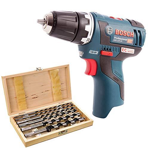 Bosch GSR 12V-20 12V Brushless Drill Driver with 6 Piece Auger Drill Bit Set