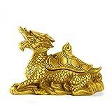 WOREX Esculturas Cobre Puro Cubierta Abierta Cabeza de dragón Tortuga...