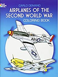 airplanes of the second world war coloring book for men