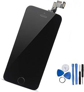 Yodoit iPhone5s/SE フロントパネル 画面 液晶 取り付け簡単化 (ホームボタン +スピーカー +カメラ +近接センサーが含まれる) 修理交換用 タッチパネル ガラス LCD スクリーン 修理パーツ デジタイザ 工具+画面保護フ...