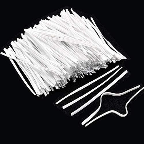 500/1000 Stück PE Kunststoff Kunststoff Draht/Stange Für DIY MASKE Verzinktes Eisen Einkern innen (500)