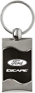 Au-Tomotive Gold, INC. Rectangular Wave Key Fob for Ford Escape Black - DS-KC3075.XCA.BLK-1
