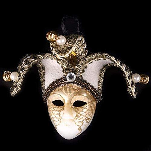 ZNYH Imán para nevera con diseño de mosaicos de Venecia, máscara de campana, payaso, decoración de nevera, imán para nevera, decoración del hogar, r-J