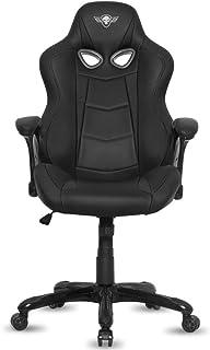 Spirit Of Gamer - Sillón Gamer Racing - Sillón Gaming de Cuero Sintético de Dos Tonos Negro - Apoyabrazos Tamaño XL Color Negro Mate Fijo y Acolchado