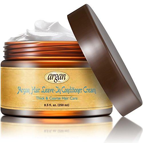 Vitamins Creme Intensive sans rinçage, Produit Demelant Repair Styler. Soins à l' Huile D' Argan pour Cheveux Afro & Epais (Secs & Crépus)