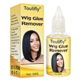 Extensions Adhésives Dissolvant,Dissolvant d'Extensions de Cheveux,Dissolvant de Colle de Perruque,Removes Hair Glue,pour la Perruque de Dentelle,Toupees,30ML