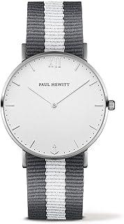 Paul Hewitt Mixte Analogique Quartz Montre avec Bracelet en Nylon PH-SA-S-St-W-GrW-20
