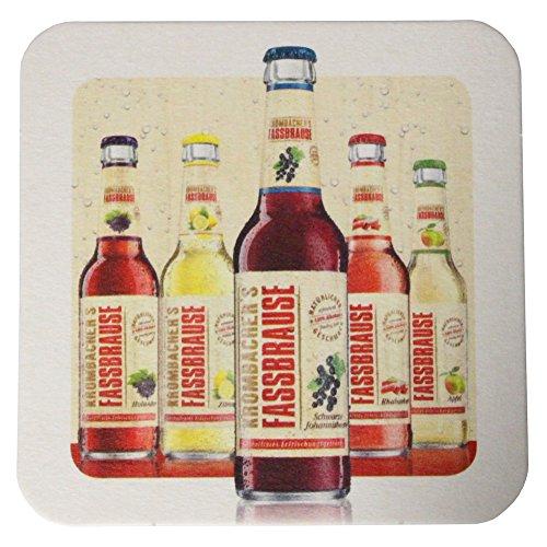 Krombacher Bierdeckel Pils Untersetzer Bier Glas Gläser Bierfilz Pappdeckel Party Bar Theke Tresen Deko Motiv Design (Fassbrause)
