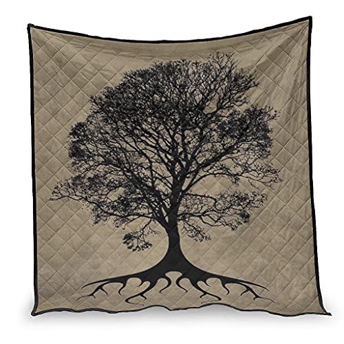 Dessionop Yggdrasil - Sofá vikingo con diseño de árbol de la vida con aire acondicionado (173 x 203 cm), color blanco