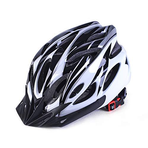 Leezo - Casco da Ciclismo Completamente Modellato, Super Leggero, per Mountain Bike, Bici da Strada, Mountain Bike, BMX, Unisex, Ultra Leggero, Unisex, Black White