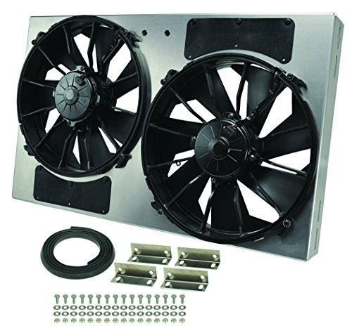 Derale Performance 16836 Gray/Black High Output Dual Radiator Fan