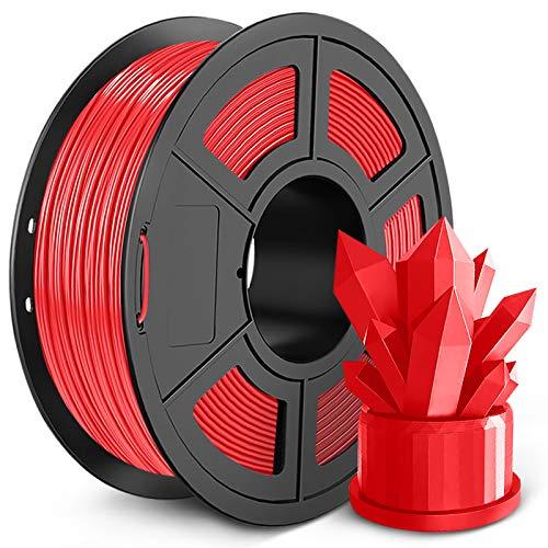 SUNLU PLA 3D Printer Filament, 1.75mm PLA Filament, Dimensional Accuracy +/- 0.02mm,3D Printing Filament for 3D Printers 3D Pen (1KG Red, PLA)