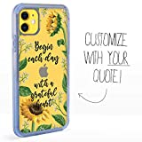 Guard Dog Custom Clear Cases for iPhone 11 – Personalized Quote – Put Your...