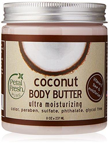 Body Butter, Ultra Hydratant, Coconut 8 oz (237 ml) - Pétale frais