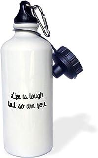 3dRose wb_301839_1 Water Bottle, 21oz, White