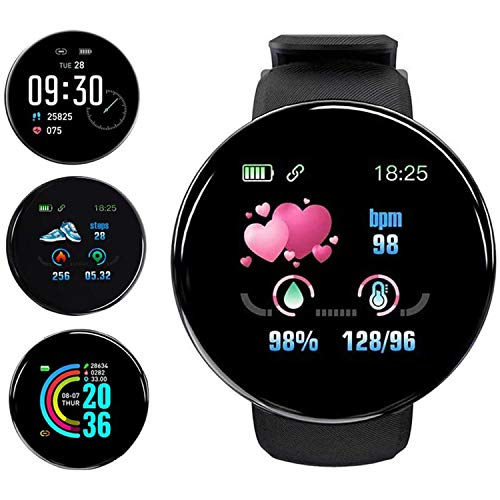 Smart Watch Fitness Tracker Watch with Heart Rate Blood Pressure Monitor IPX67 Waterproof Bluetooth Smart Watch Sports Activity Tracker Smart Bracelet for Men Women with Android/iPhone/Samsung (Black)