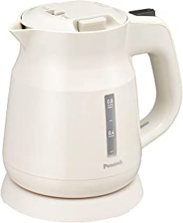 ピーコック 電気ケトル 湯沸かし器 容量 0.8L 転倒湯漏れ防止 ふた着脱 給湯ロック付き 空だき防止 安全機能 ポット WEK-08 W ホワイト