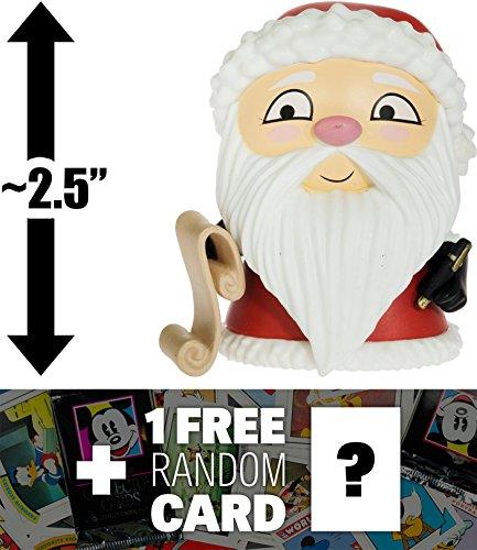 "Disney Santa Claus (Sandy Claws): ~2.5"" Funko Mystery Minis x The Nightmare Before Christmas Mini-Figure + 1 Free Classic Trading Card Bundle (058395)"