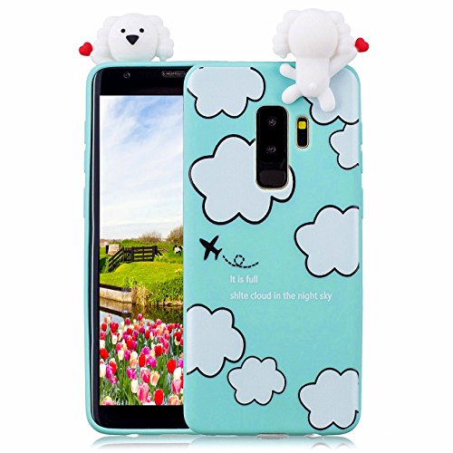 Hancda Etui pour Samsung Galaxy S9, Coque Housse Souple Case Etui 3D Silicone TPU Ultra Mince Slim Cover Motif Mignonne Antichoc Protection Coque pour Samsung Galaxy S9,05 Design