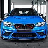 Merisny Embellecedor de Rejilla Compatible para BMW Serie 5 F07 GT 2009-2016/F10 Sedan 2010-2016/F11 Touring 2011-2016/X1 F48 2016-2021/X3 F39 2018-2021