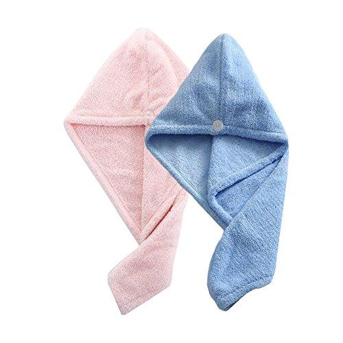 2 sets de serviette de toilette professionnel (Cherry Pink Et bleu clair)