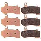 ECCPP FA409 Brake Pads Front and Rear Sintered Replacement...
