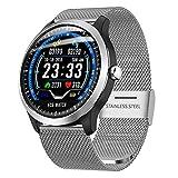 myonly Smart Bracelet für Gesundheit und Fitness, N58 Smartwatch mit Herzfrequenz-EKG + PPG, EKG, HRV-Anzeige sowie Blutdrucktest IP67 silber