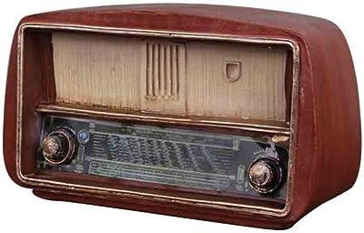 THREE Resina Modelo de Radio Antigüedades Adornos de Radio Radio Vintage Artesanías Antiguas Bar Decoración del hogar Accesorios Regalos, Marrón Rojizo: Amazon.es: Hogar