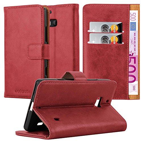 Cadorabo Hülle für Nokia Lumia 929/930 in Wein ROT – Handyhülle mit Magnetverschluss, Standfunktion & Kartenfach – Hülle Cover Schutzhülle Etui Tasche Book Klapp Style