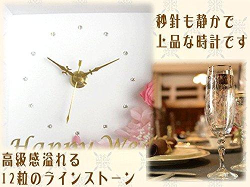 武友工房『名前入りプリザーブドフラワー時計付きフォトフレーム』