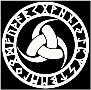 Firehouse Graphics Odin Thor Vikings Helm of awe Rune Protection Norse Vinyl die Cut Sticker Decal Triple Horn