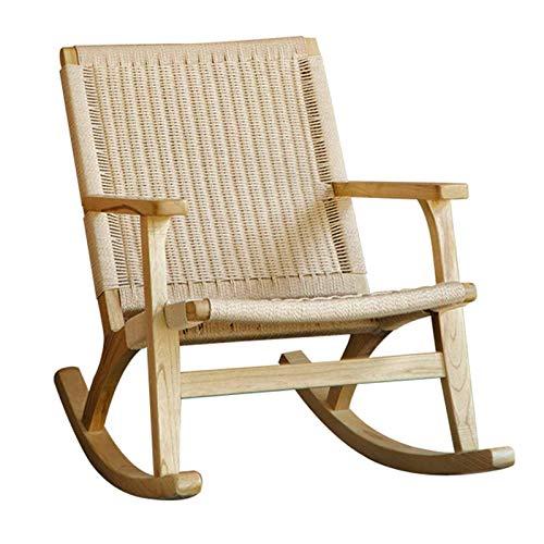 QWEA Mecedora de Interior, Mecedora Relajante, sillón de salón, Cuero sintético, Esponja Gruesa,...