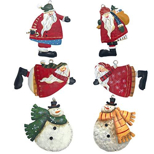 クリスマスツリー 吊り飾り サンタ人形 クリスマスパーティー クリスマス装飾 ツリーオーナメント 壁掛け クリスマスプレゼント 雪だるま+サンタクロース