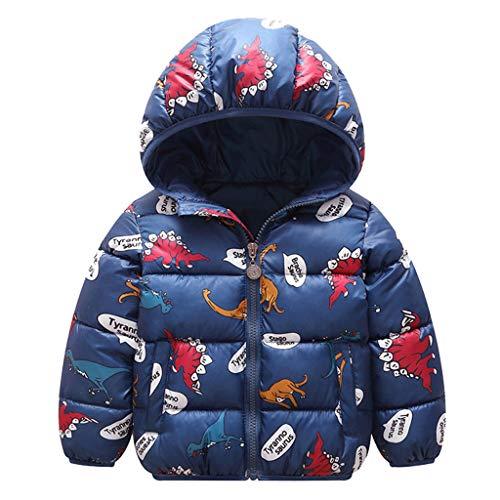 Obestseller Unisex Kinderjacke Cartoon Print Langarmjacke Baumwolle Kapuzenjacke Warme Winterjacke Reißverschluss Dicker Hoodie Geeignet für 1-8 Jahre (Weihnachten)