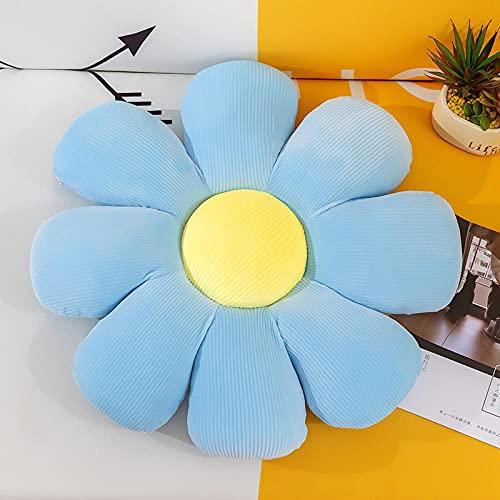 Lankfun Cojines de Asiento Redondos de Fieltro,Almohadilla de cojín de algodón elástico con pétalos de Flores Gruesa Debajo de la Oficina Ass Mat-Blue_60cm,Cojín para el Suelo