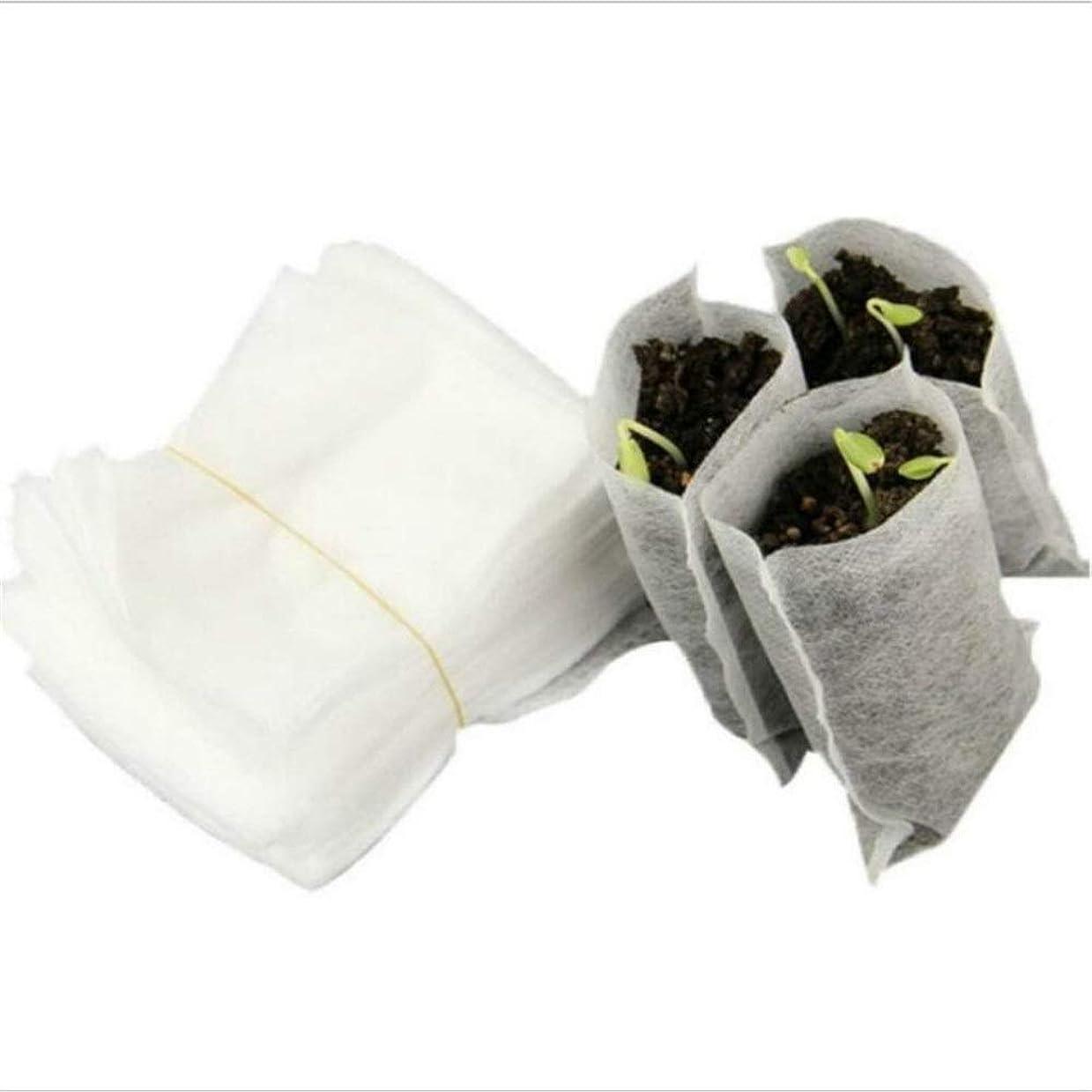 市民権教師の日名前を作るLVESHOP 100ピース不織布保育園バッグ植物成長バッグ生地苗ポット植物ポーチ