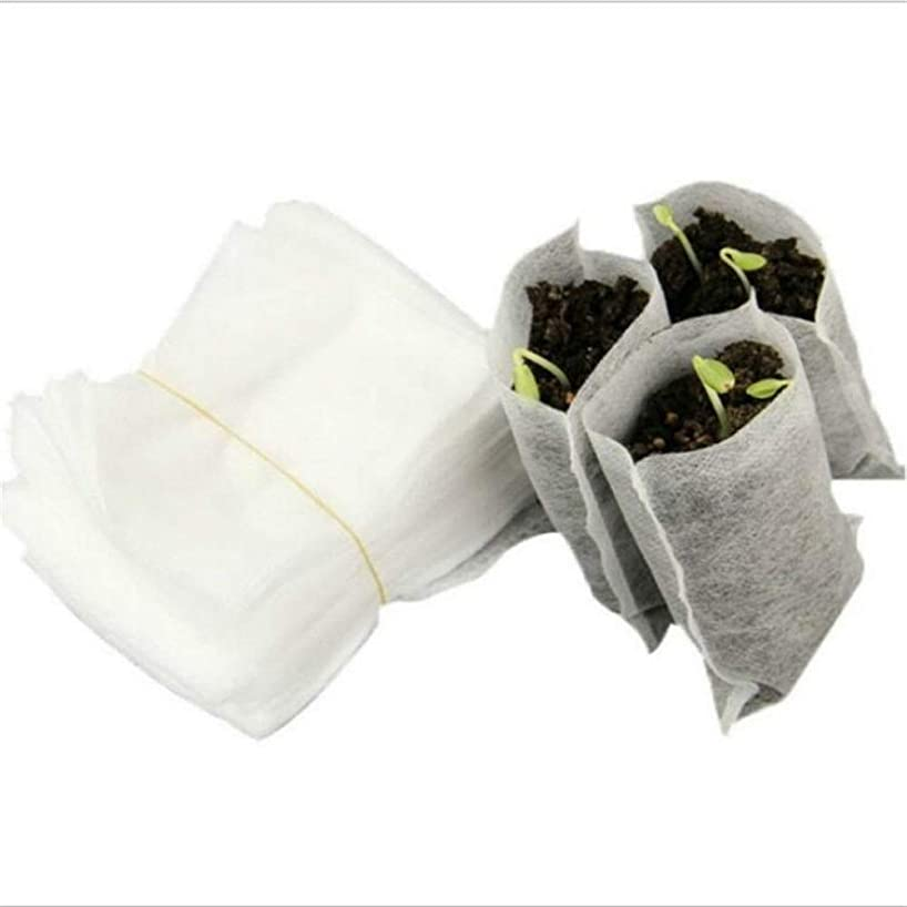 動揺させるマット敏感なLVESHOP 100ピース不織布保育園バッグ植物成長バッグ生地苗ポット植物ポーチ