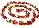 Ambermilana Natur Bernstein Kette Halskette/Damen/Bernstein HEILSTEIN/Höchste Qualität Zertifiziert Authentische Baltischen Bernstein