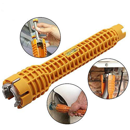 Cozyhoma Wasserhahn und Spüle Montage-Werkzeug, multifunktionaler Wasserhahn-Schraubenschlüssel, doppelendige Sanitärarmatur, Wasserhahn-Schraubenschlüssel, für Klempner, Verschiedene Farben, 1