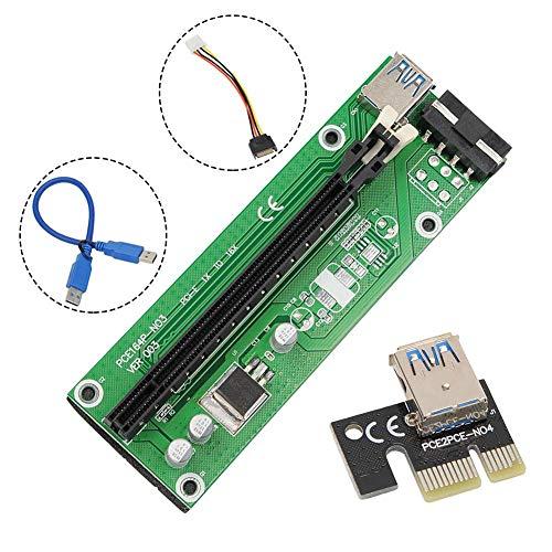 N/R Grafikkarte, USB3.0 PCIE 1X Bis 16X Grafikkarte Mit Verlängerungsdatenkabel, Dedizierter Grafikkarten-Verlängerungskabeladapter
