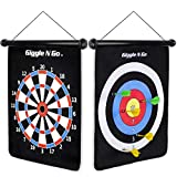 GIGGLE N GO Reversible Rollup Dart Game - Great Kids Game for Indoors and Outdoors. Game