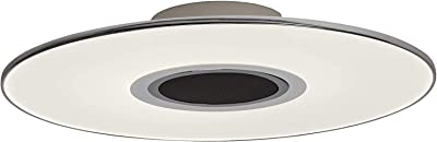 AEG Plafonnier LED Haut-parleur audio Bluetooth, 1x 24W LED intégré (SMD-chip), 1x 1700 Lumen, 2800-4500K, plastique / aluminium, blanc / chrome