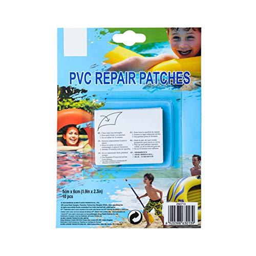 Parche De Reparación Especial para Piscinas De 20 Piezas, Parche De Reparación para Bañeras De Hidromasaje, Parche De Reparación De Pegatinas Adhesivas para Productos Inflables De PVC, 5x6cm