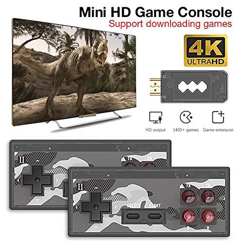 Explea Game Controller,Retro-Mini-Game-Player Handheld-HD-Spielekonsolen-Player Mit 1400 Klassischen FC-Spielen Für HD-TV-Anschlüsse