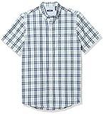 IZOD Men's Breeze Short Sleeve Button Down Plaid Shirt, Little Boy Blue, Large