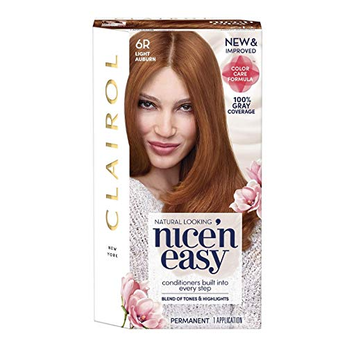 Clairol Nice 'n Easy Permanent Color, 6R/110 Natural Light Auburn 1 kit